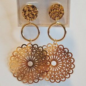 Delicate Gold Laser Cut Earrings